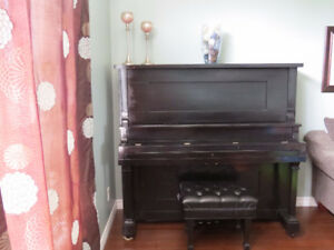 Full Size Upright Hartford Piano & Concert Bench
