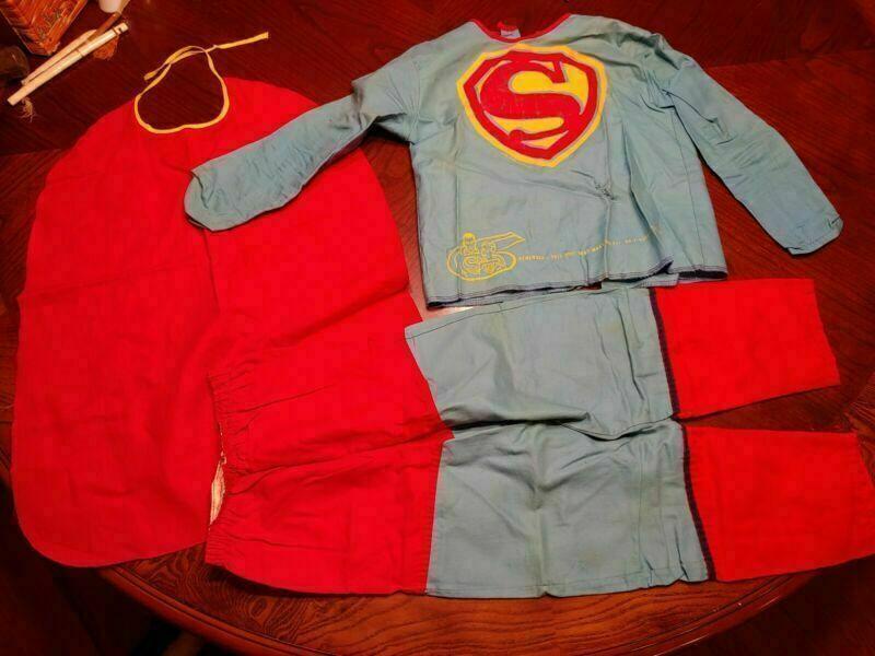 Vintage 1960s Ben Cooper SUPERMAN Kids Superhero Halloween Costume #288