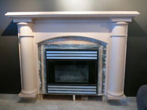 Fireplace and Mantle