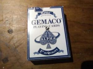 Jeu de carte Gemaco ALPHA SERIES black jack poker bonne qualité