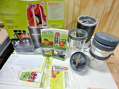 NutriBullet High-Speed Blender/Mixer System w/Hardcover Recipe & Paperwork for sale  Argyle