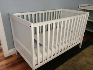 Selling Lightly Used Ikea Sundvik Baby Crib w/ Sealy Mattress
