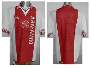 Rare 1995-96 Ajax Amsterdam Home Football Shirt Soccer size L