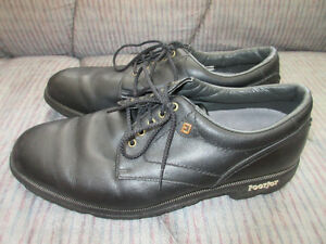 Men`s Footjoy black golf shoes size 10.5 like new