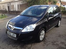 Vauxhall Zafira 1.6 petrol ,manual , (2008) seven seater,