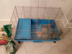 Cage for small animals, rabbit or guinea pig.