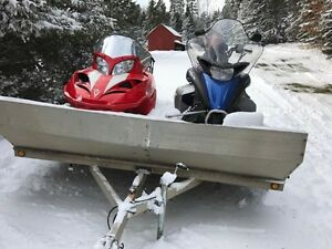 2 snow machines and trailer package - low kms