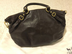 AUTHENTIC COACH BROWN LEATHER HOBO