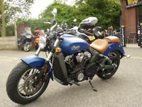 INDIAN SCOUT ICON BRILLIANT BLUE SMOKE 2018 MODEL
