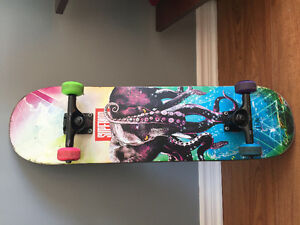"Superior Tentacles 8.25"" Skateboard Deck with trucks wheels"