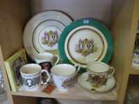 Selection of Souvenir Royalty Items at KeepSakes Antiques