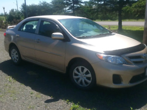 2012 Toyota Corolla  50000kms asking 9900neg.