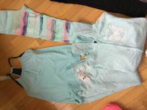 Girls ivivva tights and urban Planet tank. Walmart track suit