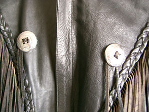 Classic fringed bikers jacket  recycledgear.ca Kawartha Lakes Peterborough Area image 4