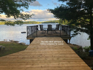 Cherished family cottage for rent on Beaver Lake. Great Swimming