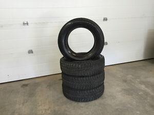 Four Blizzak 195/65r15 winter snow tires excellent shape Moose Jaw Regina Area image 1