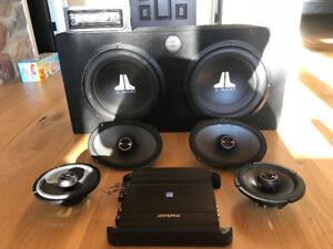 Complete Car Audio System - Subwoofers, Speakers, Amp, and Deck