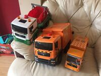 Collection of Rubbish/Recycling & skip toy Lorries