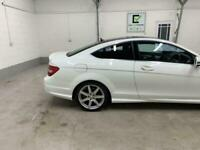 WHITE MERCEDES C-CLASS 2.1 C220 CDI AMG SPORT EDITION PREMIUM+ *BUY FROM £56P/W*