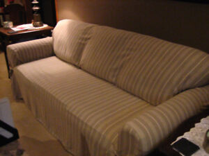 SOFA, LOVE SEAT, CHAIR and OTTOMAN and set of slipcovers