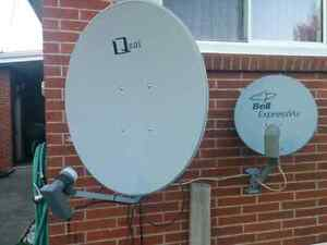 Satellite Dish and Dreamlink Receiver
