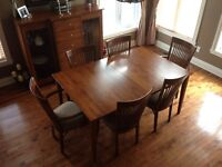 Dining Room Table, Chairs and Buffet