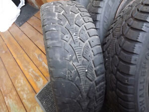 4 Snow tires and rims 185/65R14