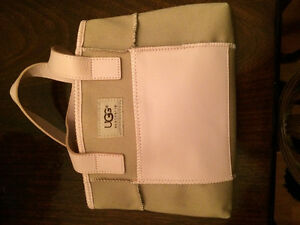 Ugg Australia Leather and Canvas Purse