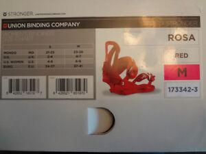 New-Union Binding Co.Women's ROSA Snowboard Bindings M(US 6-9)