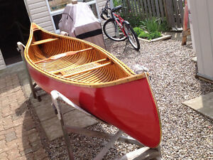 Peterborough Cedar Canvas Canoe