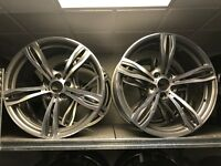"20"" genuine BMW f10 m5 alloy wheels alloys rims brand new rare bargain 5x120"