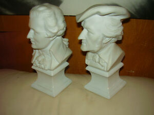 Limoges France Statue Mozart and Wagner Rare New