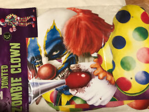 5.5 Foot Tall Jointed Zombie Clown Brand New in Package Only $7