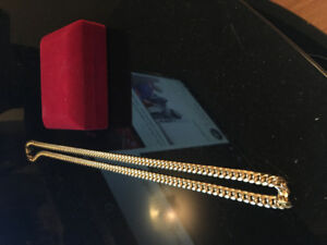 "10k 7mm 28"" Miami cuban Link chain , mint condition"