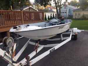 For Sale - Bass King Hydro Yacht Fishing Boat with Trailer