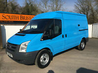 2010 60 FORD TRANSIT 2.2 TDCi 330M 115PS MWB MEDIUM ROOF VAN BLUE WOW 34K FSH