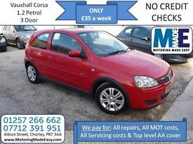 **£35 A WEEK** Vauxhall Corsa SXI 1.2, 3Dr, 12M MOT, EW CD RCL