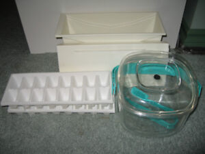 Ice bucket with tong, ice container with cover, ice maker