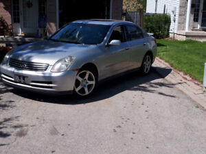 2003 Infiniti G35. Leather Seats, Sunroof. PW/PL