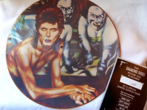 DAVID BOWIE PICTURE DISC DIAMOND DOGS NUMBERED 1343 SPECIAL ED