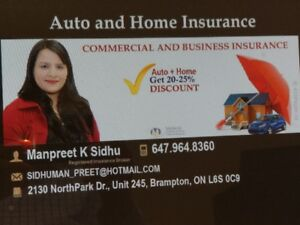 Auto insurance/High risk drivers/Home owners/rented homes