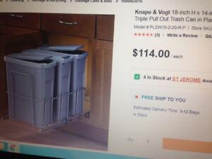 recyclage et poubelle en tiroir