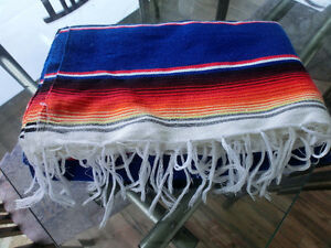 NEW PRICE! Beautiful Vintage Authentic Mexican Serape