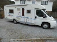 2009 Adria Coral S680ST 4 Berth with Full Width End Washroom and Fixed Rear Bed