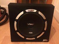 "Vibe Slick SLR 12"" Active Sub & Amp - (Alpine JBL Kicker JL Hifonics Pioneer Sony Rockford )"