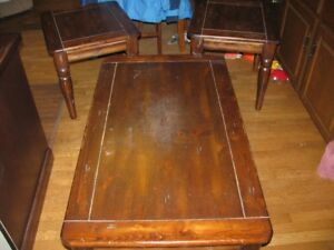COFFEE  TABLE  AND  END  TABLE  SET  -  SOLID  WOOD
