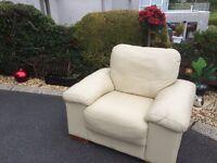Beautiful Cream Leather Chair