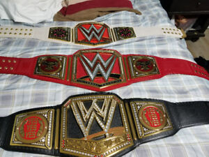 wwe replica championship belts with side plates