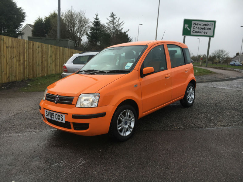 2009 09 fiat panda 1 2 mamy orange 1 owner full fiat service history in stonehaven. Black Bedroom Furniture Sets. Home Design Ideas