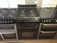 Gas cooker with fan oven